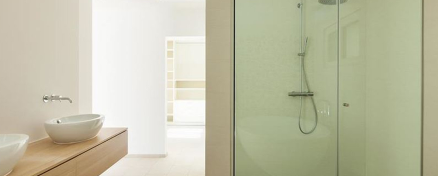 Frameless Corner Shower Enclosure